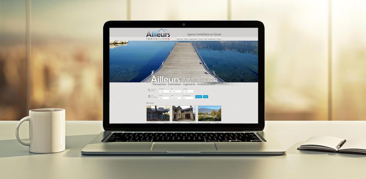Site internet  ailleurs immobilier