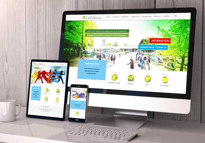 Site responsive internet lycée Lachenal