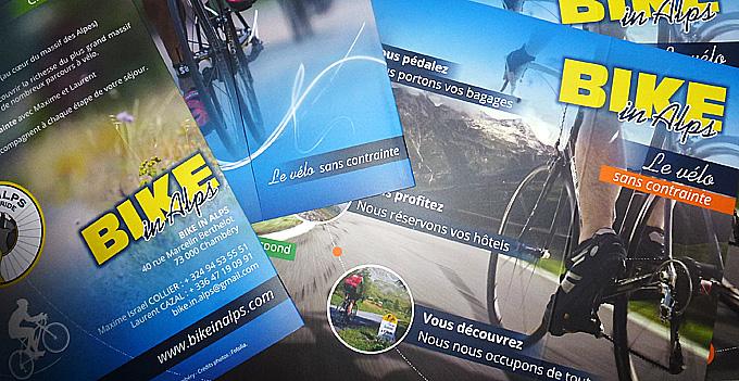 Bike in alps Flyer plaquette de présentation