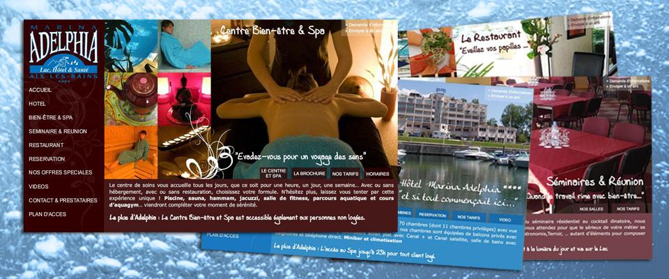 agence com chambéry site internet hôtel restaurant séminaire salle réunion aix les bains hôtel marina adelphia