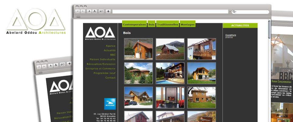 agence com chambéry site internet agence architecte maison programme neuf grenoble aoa