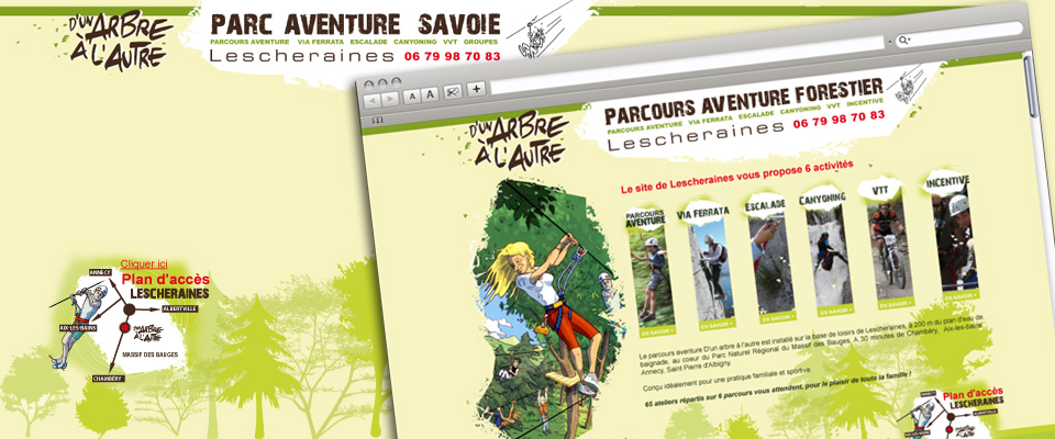 agence com chambéry site internet accrobranche canyoning escalade via ferrata savoie d'un arbre à l'autre
