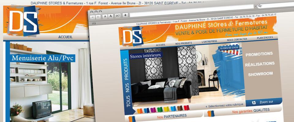 agence com chambéry site internet porte clôture store portail isère dauphiné stores