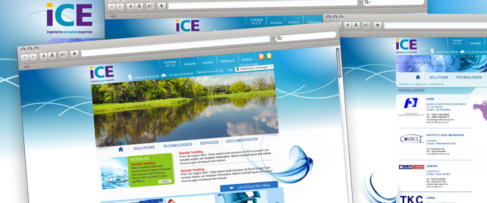 agence com chambéry site internet traitement de l'eau expertise conseil ingénierie équipements ice