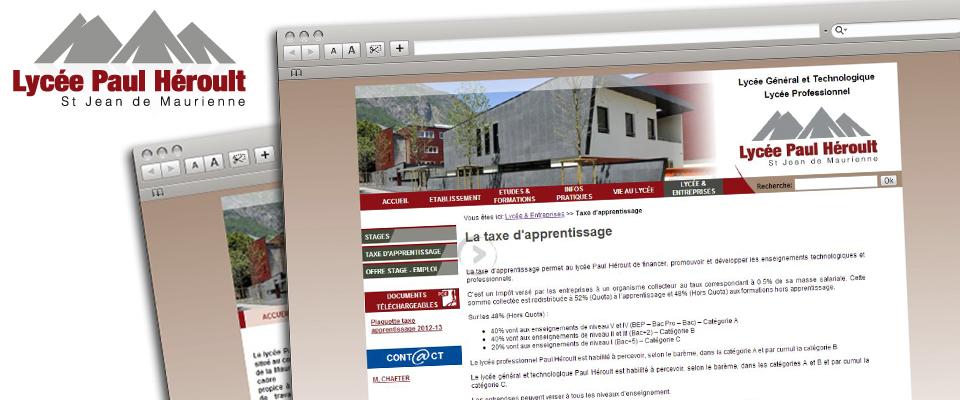 agence com chambéry site internet lycée général technologique professionnel savoie maurienne lycée paul héroult