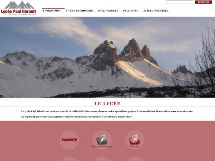 Refonte du site Internet du Lycée Paul Héroult de St Jean de Maurienne